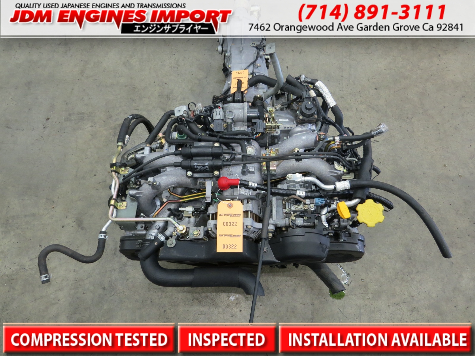 2000-2005 Jdm Subaru Impreza Forester 2 0L Sohc Engine Only JDM