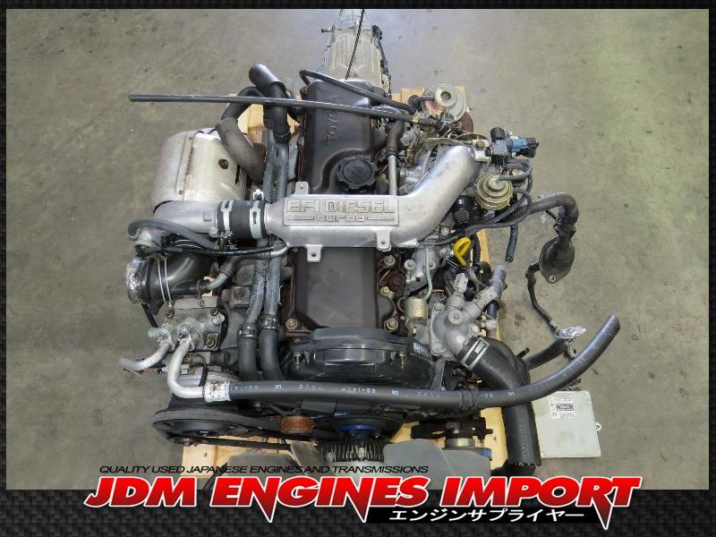 JDM 2L TOYOTA HILUX 4RUNNER 2.4L EFi DIESEL TURBO ENGINE AUTOMATIC RWD TRANS ECU 2L-TE