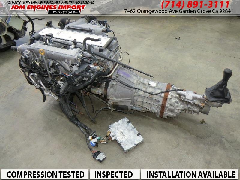 Toyota Parts Store >> JDM Toyota 1JZ GTE VVTI 2.5L Front Sump Engine R154 Transmission Harness ECU MAF Igniter